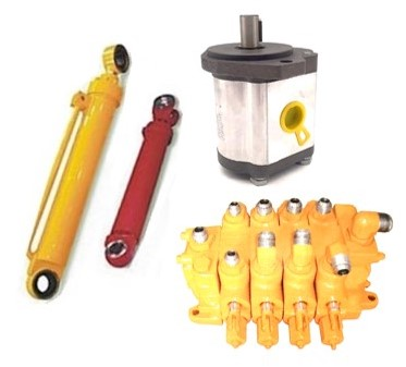 Hidráulica: cilindros, bombas, comandos